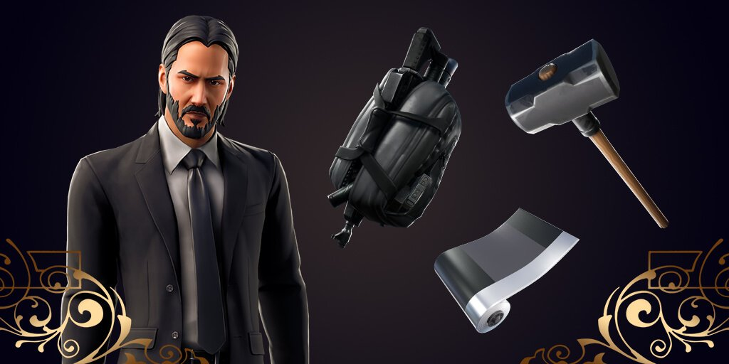 John Wick available on today's Fortnite update