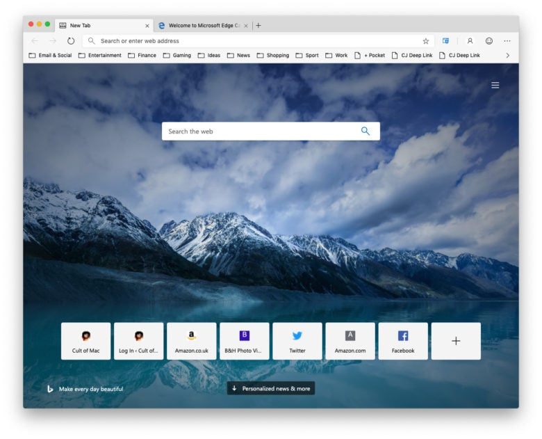 Download the first Microsoft Edge preview on your macOS