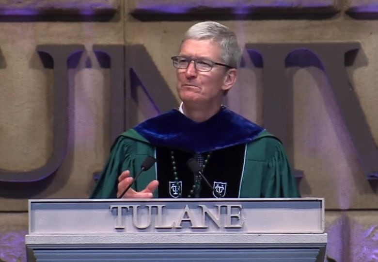 Watch Tim Cook's Tulane University commencement speech