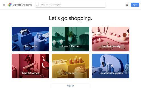 Google shopping is going live now in the U.S.