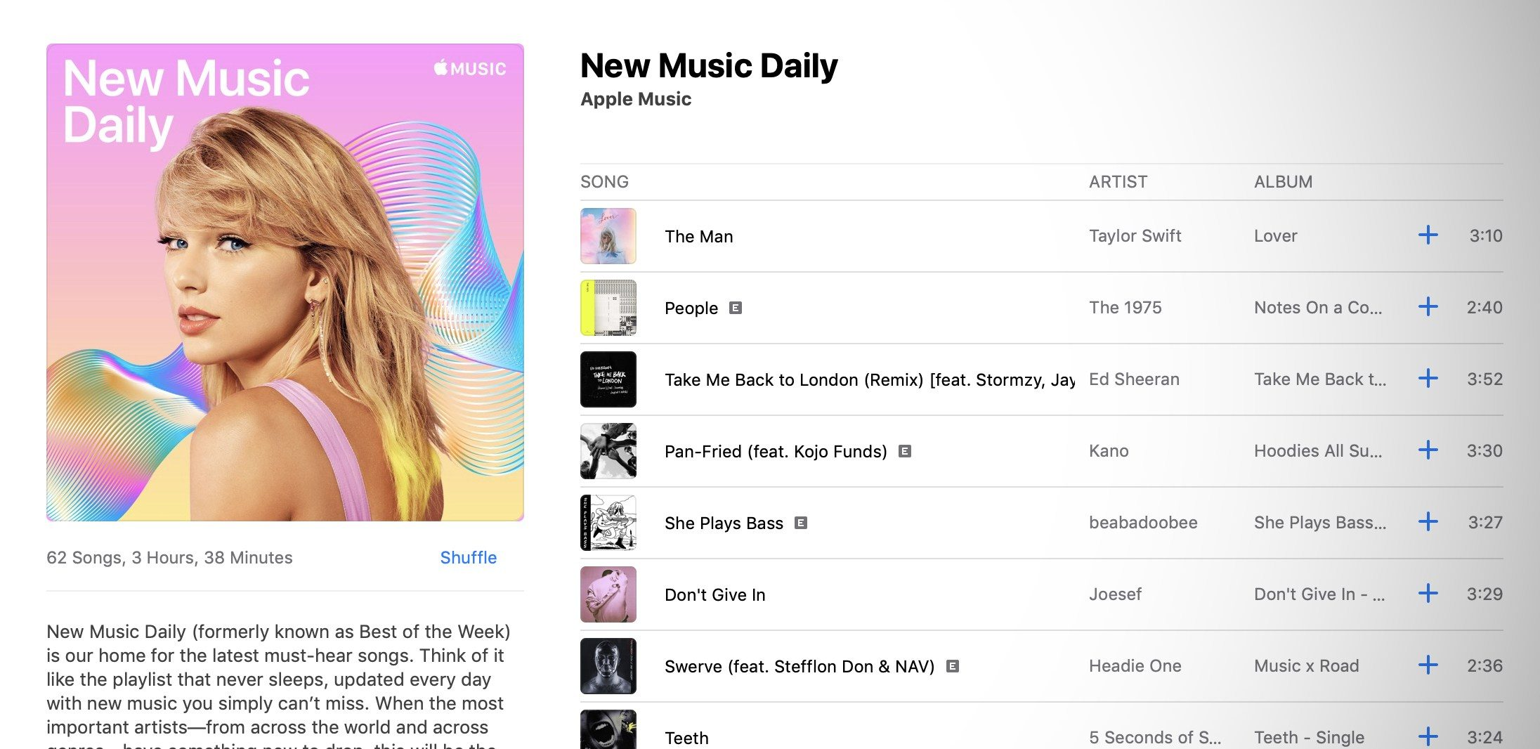 Apple Music launches 'New Music Daily' playlist