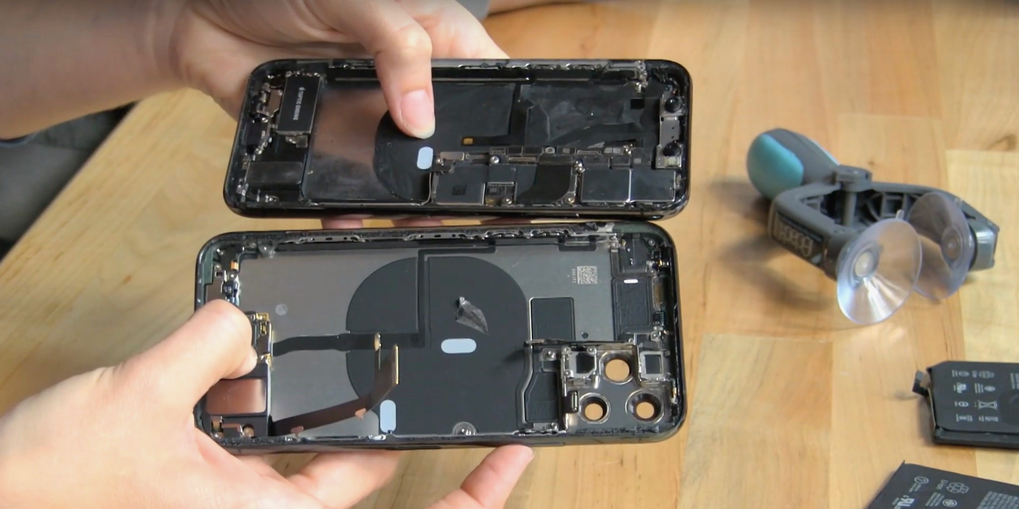 iPhone 11 Pro teardown reveals new board under battery, possibly for bilateral wireless charging